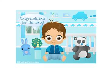 Boy Baby Shower ecard