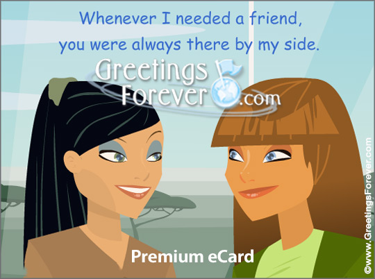 Ecard - May our friendship last forever!