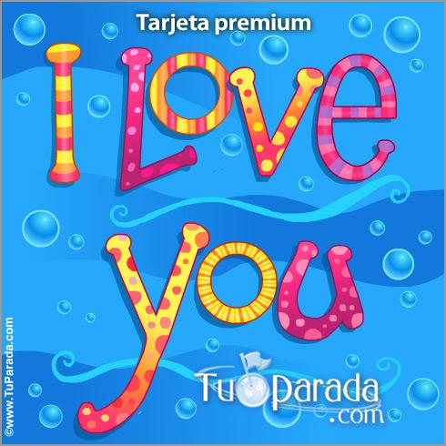 Tarjeta - I love you pop