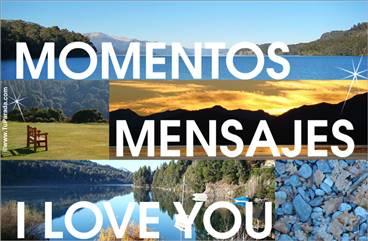 Tarjeta romántica con paisajes