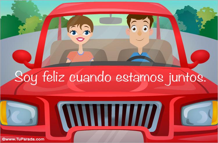 Tarjeta - Tarjeta de amor en auto