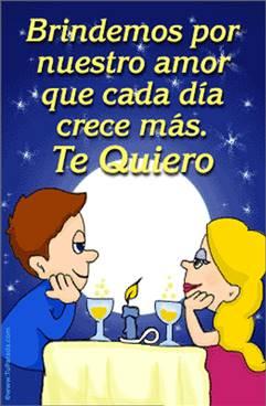 Brindemos por nuestro amor.