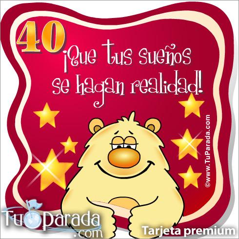 40 Años Cumpleaños Para Cada Edad Tarjetas