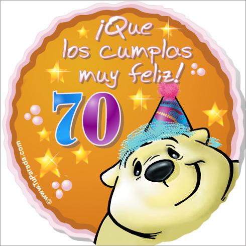 70 Años Cumpleaños Para Cada Edad Tarjetas