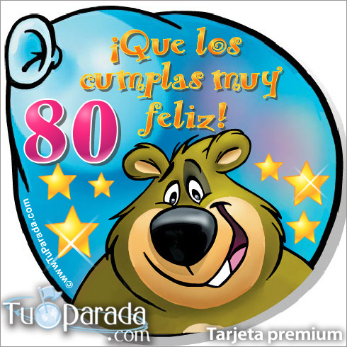 Tarjeta - 80 Años