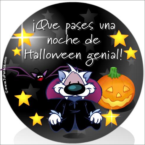 Tarjeta - Noche de Halloween