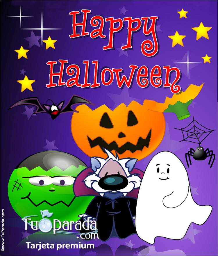Tarjeta - Feliz Halloween expandible