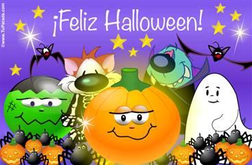 Tarjeta animada de Halloween