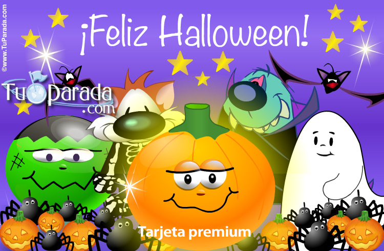 Tarjeta - Tarjeta animada de Halloween