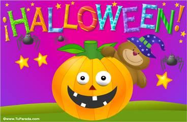 Ecard de Halloween con osito