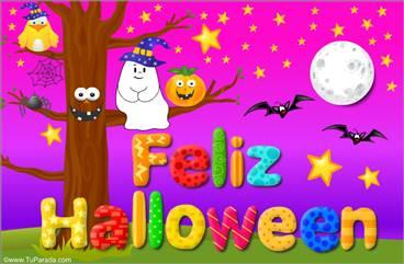 Tarjeta animada para Halloween