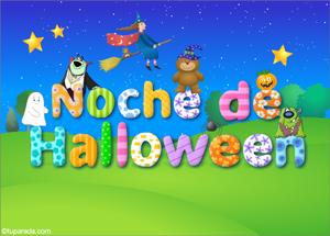 Tarjetas postales: Tarjeta de Halloween con saludo