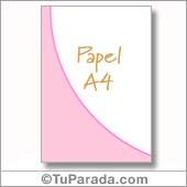 Papel en rosa A4 - Todos los dispositivos.