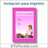 Invitación para chicas - Todos los dispositivos.