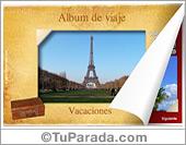 Tarjetas, postales: Álbum de viajes