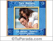Tarjetas, postales: Portarretrato azulino personalizable
