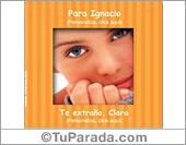 Tarjetas, postales: Portarretrato naranja con rayas para personalizar