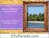 Tarjetas, postales: Un marco ideal para una foto especial