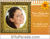 Tarjetas, postales: Marco con tu foto preferida