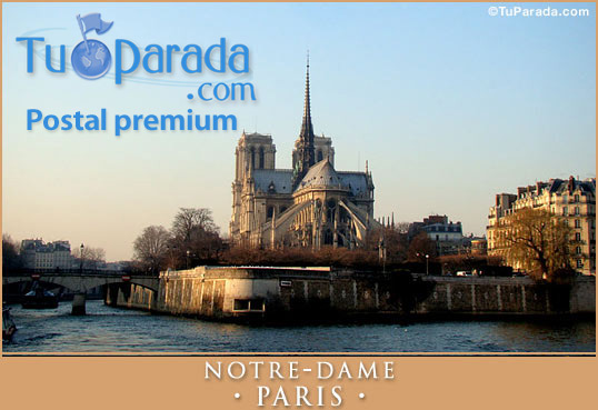 Tarjeta - Notre-Dame - PARIS