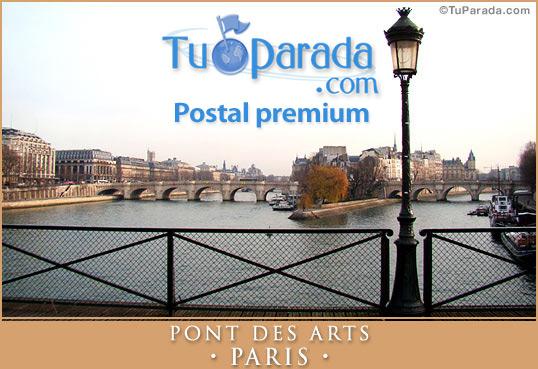 Tarjeta - Pont des Arts - PARIS