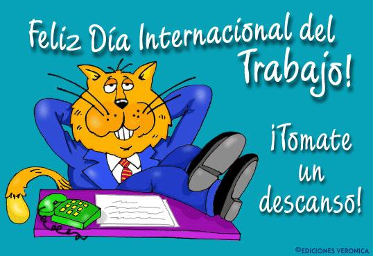 Tarjeta - Día Internacional del Trabajo.