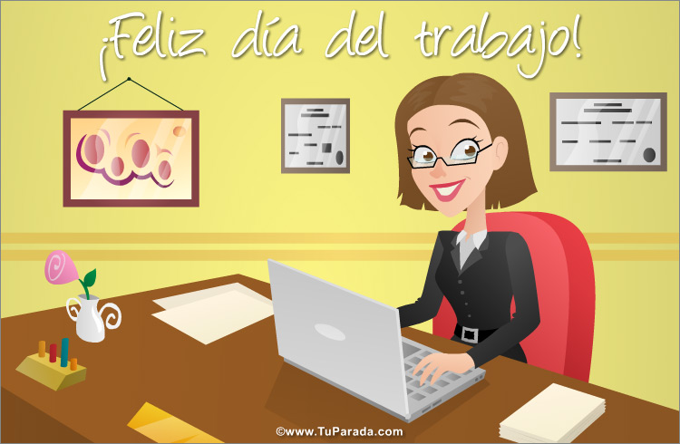 Tarjeta - Tarjeta de feliz día del trabajo