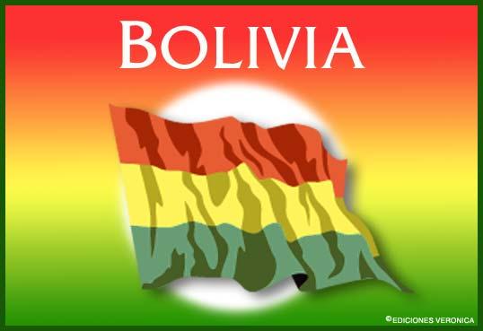Tarjeta - Bandera de Bolivia