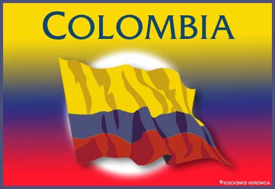 Tarjeta - Bandera de Colombia
