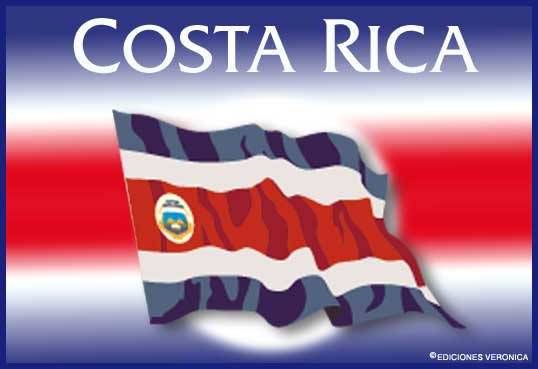 Tarjeta - Bandera de Costa Rica