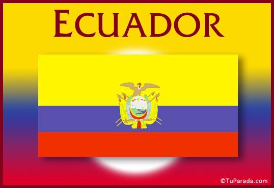 Tarjeta - Bandera de Ecuador