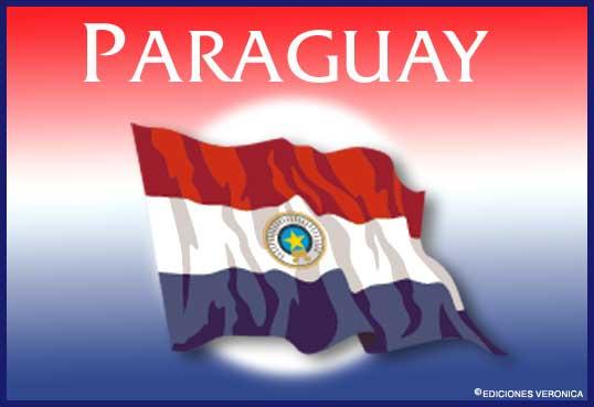 Tarjeta - Bandera de Paraguay