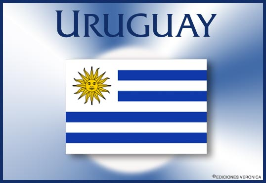 Tarjeta - Bandera de Uruguay