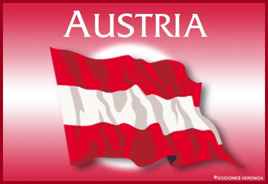 Tarjeta - Bandera de Austria