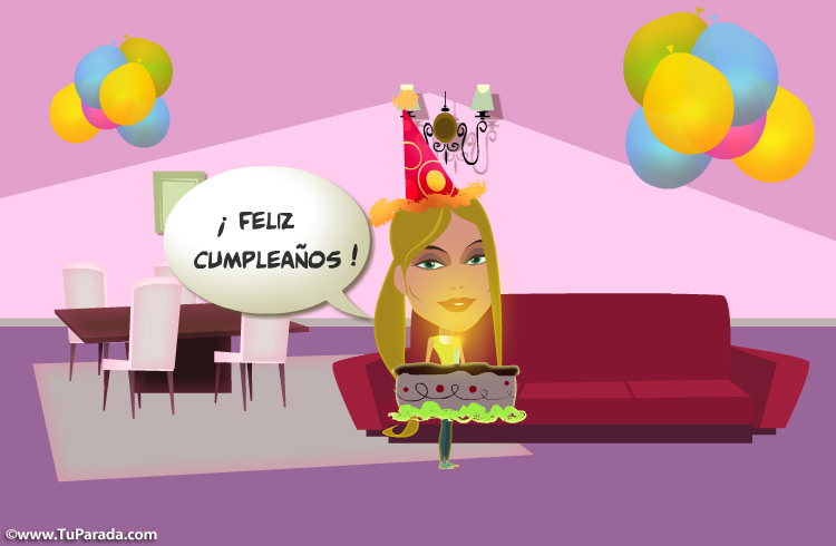 Tarjeta - Postal de feliz cumpleaños especial