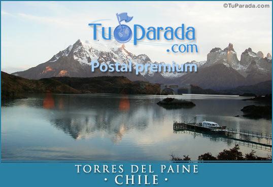 Tarjeta - Paisaje Torres del Paine - Chile