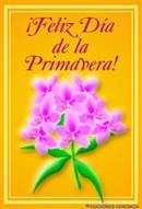 Feliz día de la primavera con flores
