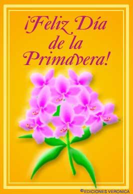 Tarjeta - Feliz día de la primavera con flores