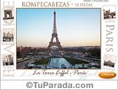 Juego rompecabezas - Panorámica de la Torre Eiffel