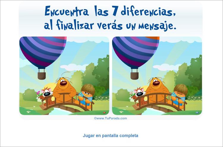Juego - Encuentra las 7 diferencias