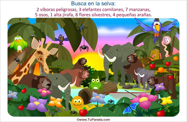 Juego - Busca en la selva africana