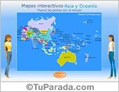 Mapa de Asia y Oceanía para armar