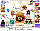 Tarjeta de Personajes, fondos y elementos variados