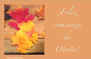 Tarjeta para el comienzo del otoño