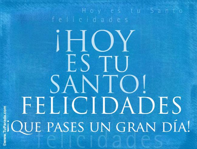 Tarjeta - Hoy es tu Santo