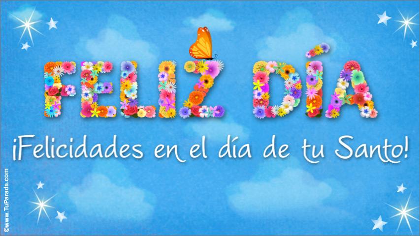 Feliz Día De Tu Santo Feliz Santo Tarjetas