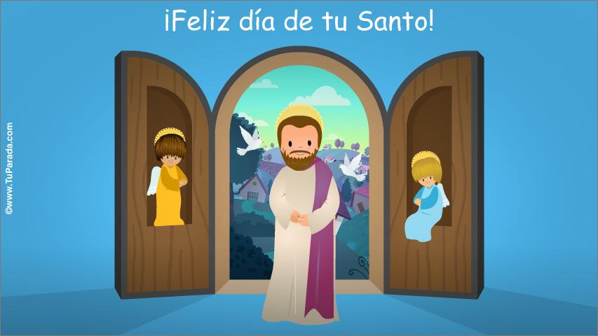 Tarjeta - Tarjeta para el día del Santo