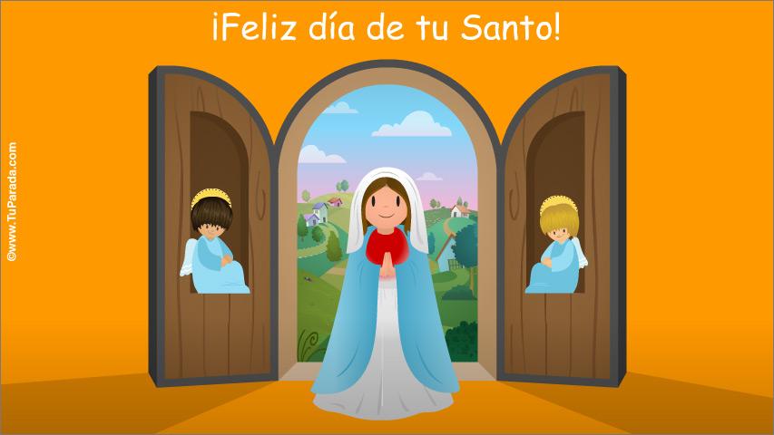 Tarjeta - Postal para el día del Santo