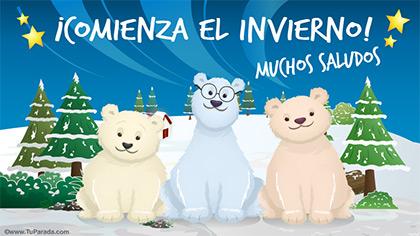 Comienza el invierno con osos
