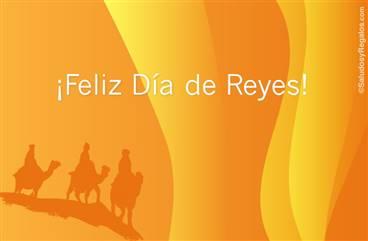 Feliz Día de Reyes iluminado